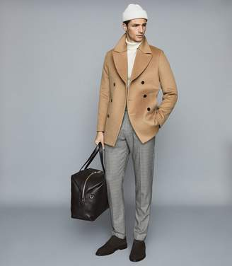 Reiss HECTOR WOOL BLEND DOUBLE BREASTED COAT Camel