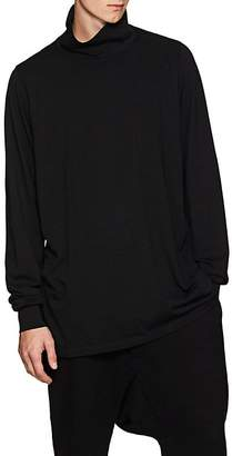 Rick Owens Men's Cotton Long-Sleeve Turtleneck Shirt