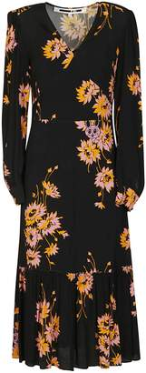 McQ Floral Flared Dress