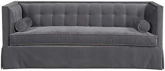 "Kristin Drohan Collection Christopher 82"" Sofa - Charcoal Velvet"