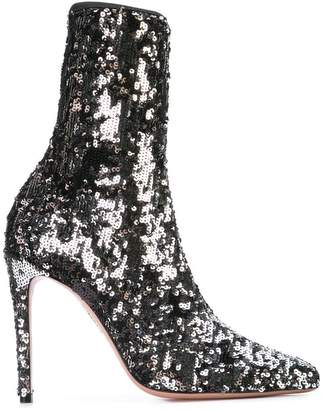 Aquazzura mid-calf sequin boots