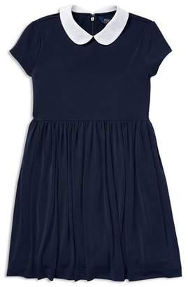 Ralph Lauren Girls' Collared Crepe Dress - Big Kid