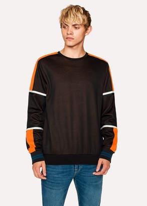 Paul Smith Men's Black Colour-Block Cotton-Blend Sweatshirt