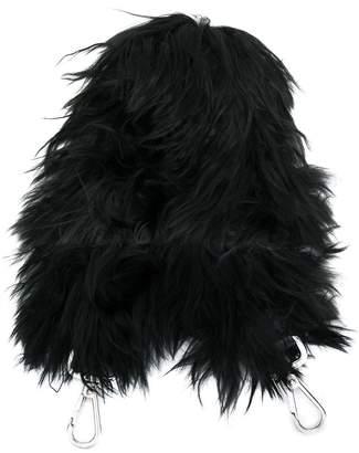 Fendi Strap You fur mini bag strap