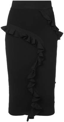 Milly frill trim pencil skirt
