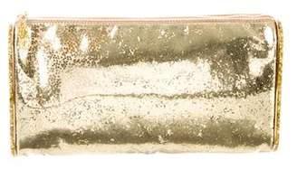 Edie Parker Confetti Metallic Clutch