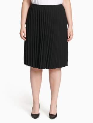 Calvin Klein plus size lux pleated skirt