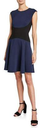 Kate Spade colorblock cap-sleeve A-line dress