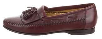 Santoni Tassel Kiltie Dress Loafers
