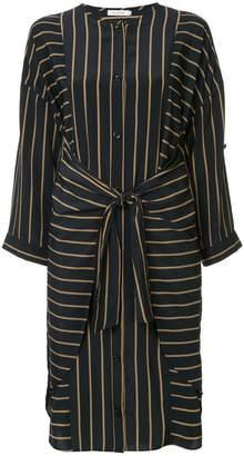GUILD PRIME striped belted dress