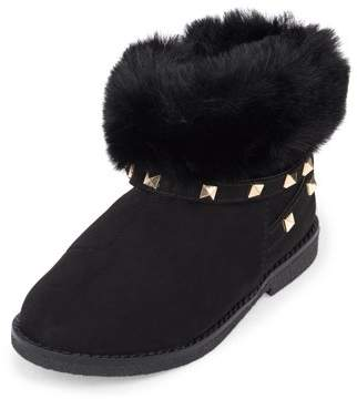 Children's Place The Toddler Girls' Faux Fur Stud Bootie