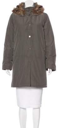 Cassin Fur-Trimmed Short Coat