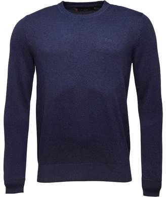 Ben Sherman True Knit Crew Neck Jumper Blue