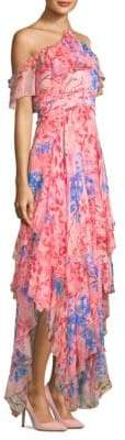 Alice + Olivia Galina Handkerchief Maxi Dress