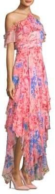Alice + Olivia Galina Handkerchief Maxi Dress