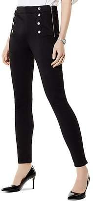 Karen Millen Button Detail Denim Leggings