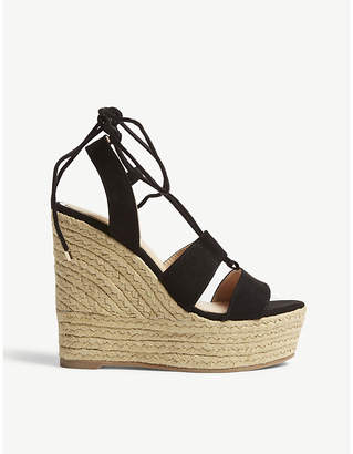 Office Hula Hula Ghillie espadrille wedge heel sandals