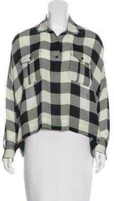 Rag & Bone Silk Plaid Top