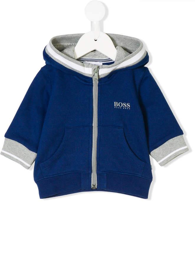 Boss Kids hooded front zip jacket