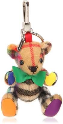 Burberry Thomas Bear Rainbow Check Keychain
