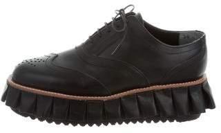 Julien David Flatform Leather Oxfords