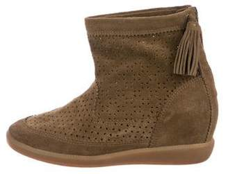 Isabel Marant Perforated Wedge Sneakers