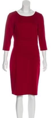 Ellen Tracy Knee-Length Sheath Dress Red Knee-Length Sheath Dress