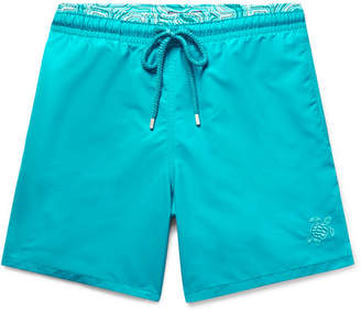 Vilebrequin Moloka Mid-Length Printed Swim Shorts - Men - Turquoise
