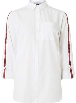 Dorothy Perkins Womens **Tall White Sport Trim Shirt.