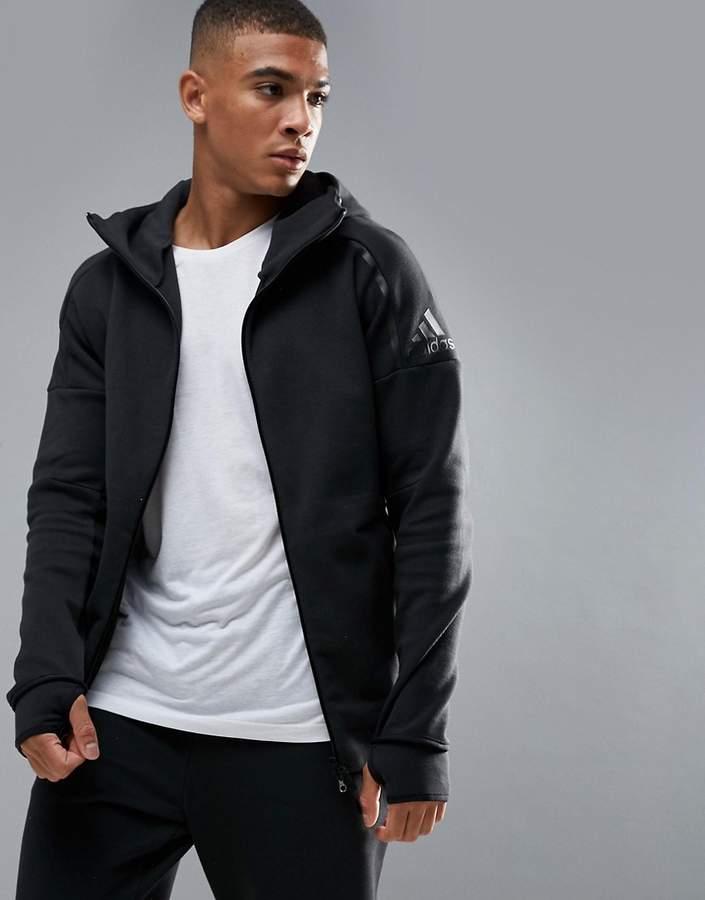 Adidas adidas Athletics ZNE 2 Hoodie In Black BQ6925