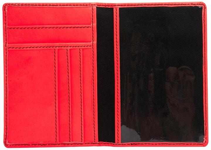 Asos Leather Passport Holder In Fluro