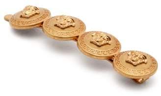 Versace Medusa Coin Hair Slide - Womens - Gold