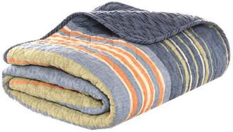 Eddie Bauer Yakima Valley Stripe Persimmon Quilted Throw Bedding