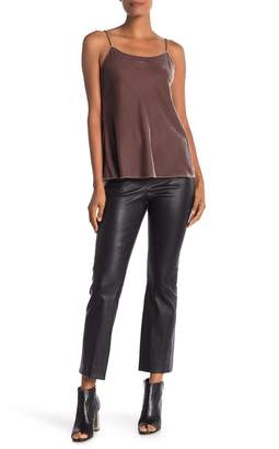Vince Leather Flare Pants