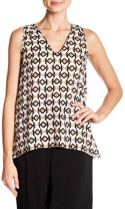 WEST KEI Printed V-Neck Blouse