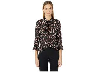 Rebecca Taylor Long Sleeve Cheetah Top