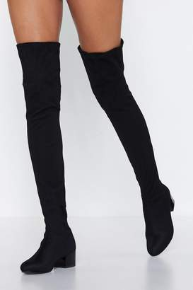 Nasty Gal Net Over You Thigh High Boot