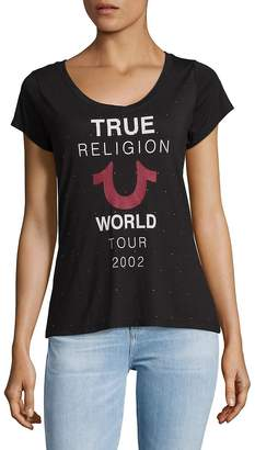 True Religion Women's Graphic Slip-On Tee