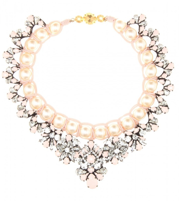 Shourouk Marisa Virgin embellished necklace