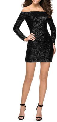 La Femme Sequin Dress