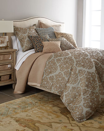 "Isabella Collection by Kathy Fielder King Damask Duvet Cover, 110"" x 98"""