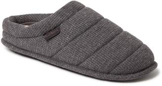 Dearfoams Men's Mixed Material Quilted Clog Slippers
