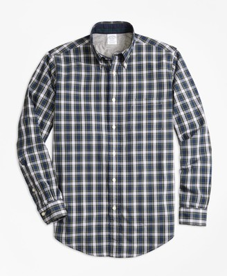 Brooks Brothers Regent Fit Heather Lined Tartan Sport Shirt