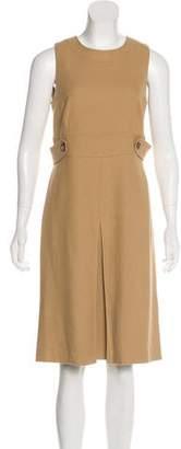 Burberry Wool-Blend Sleeveless Midi Dress