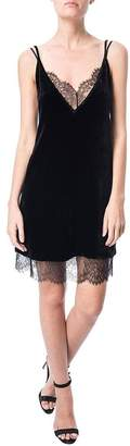CAMI Lara Lace Velvet Underlay Dress