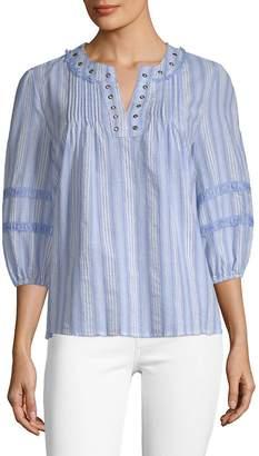 Moon River Women's Striped Cotton Tunic