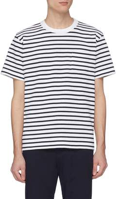 Sacai Zip outseam stripe knit T-shirt