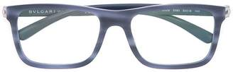 Bulgari square frame glasses