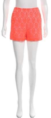 A.L.C. High-Rise Lace Shorts
