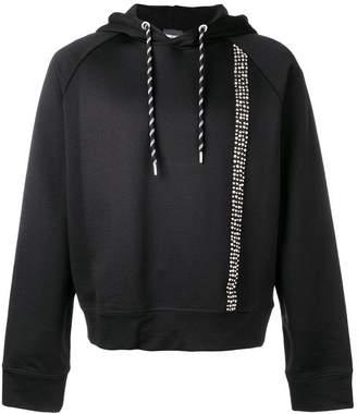 Just Cavalli studded stripe hoodie